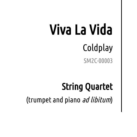 Viva La Vida Coldplay Sheet Music To Celebrate