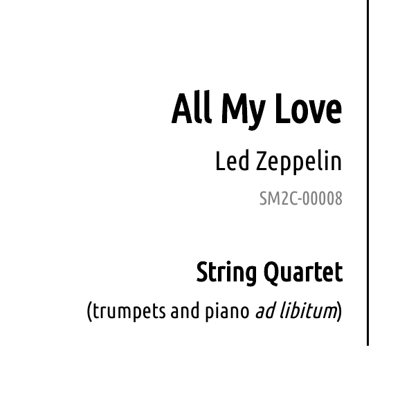 all my love led zeppelin sheet music to celebrate